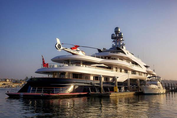 Super Yachts Modern Yacht Large Boat Art Print