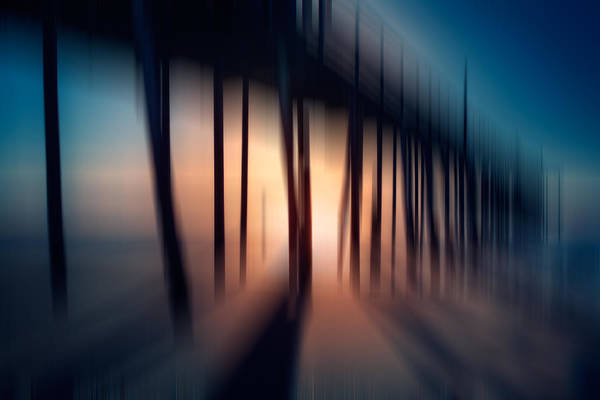 Outer Banks Art Print featuring the photograph Symphony Of Shadow - A Tranquil Moments Landscape by Dan Carmichael