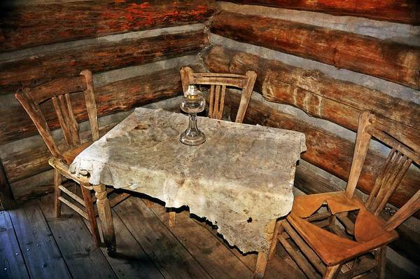 Rustic Art Print featuring the photograph Table For Three by Marty Koch