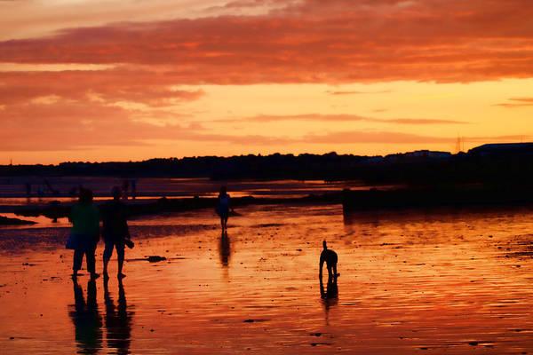 Beach Sunsets Art Print featuring the photograph Tangerine Sands by Sharon Lisa Clarke