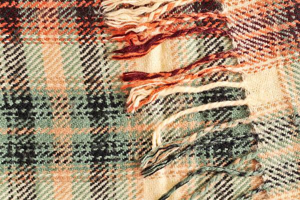 Background Art Print featuring the photograph Tartan Scarf by Tom Gowanlock