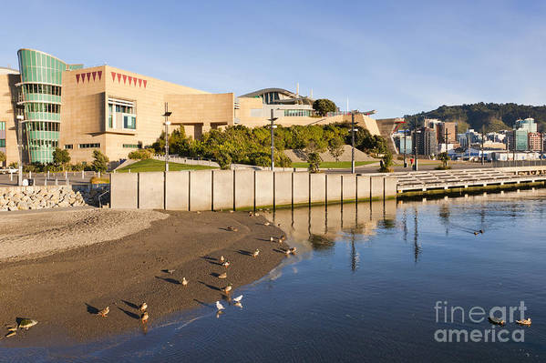 Architecture Art Print featuring the photograph Te Papa Wellington New Zealand by Colin and Linda McKie