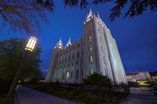 Mormon Art Print featuring the photograph Temple Perspective by Chad Dutson