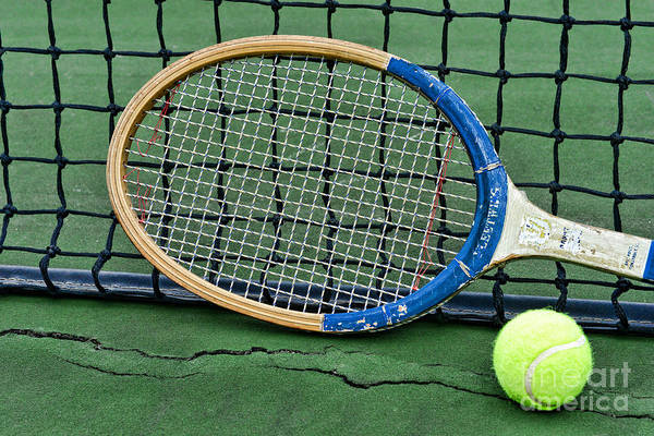 Paul Ward Art Print featuring the photograph Tennis - Vintage Tennis Racquet by Paul Ward