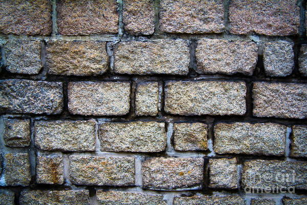 Square Art Print featuring the photograph Texture Of Old Wall by Niphon Chanthana