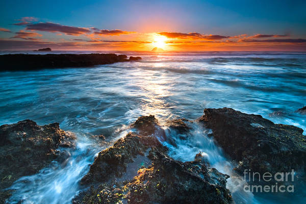 Beautiful Print featuring the photograph The Beautiful Sunset Beach by Boon Mee