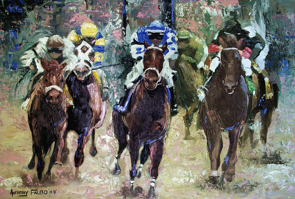 The Bets Are On Art Print featuring the painting The Bets Are On by Anthony Falbo
