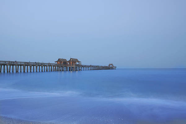Pier Print featuring the photograph The Blue Hour by Kim Hojnacki