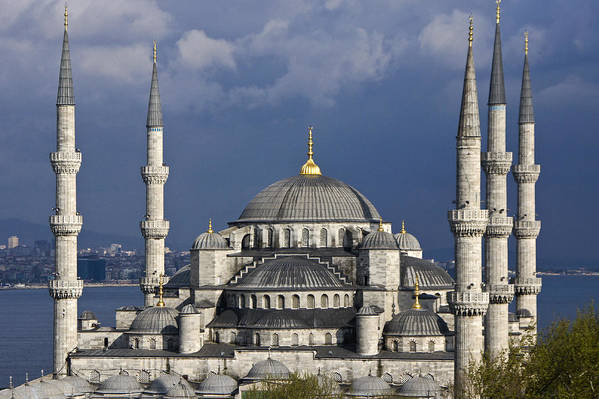 Europe Art Print featuring the photograph The Blue Mosque In Istanbul by Michele Burgess