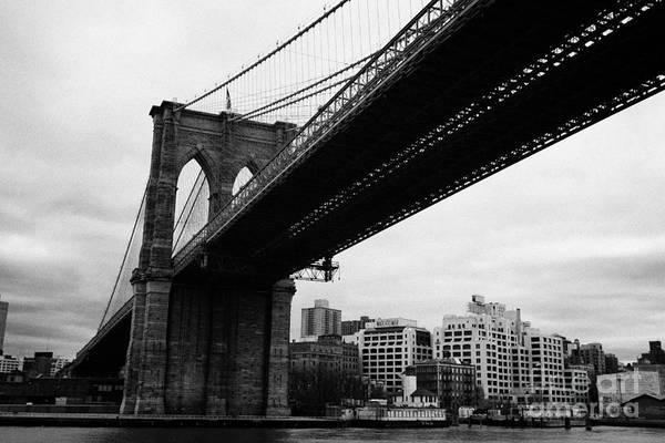 Usa Art Print featuring the photograph The Brooklyn Bridge New York City East River by Joe Fox
