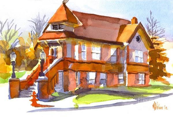 The Church On Shepherd Street 3 Art Print featuring the painting The Church On Shepherd Street 3 by Kip DeVore