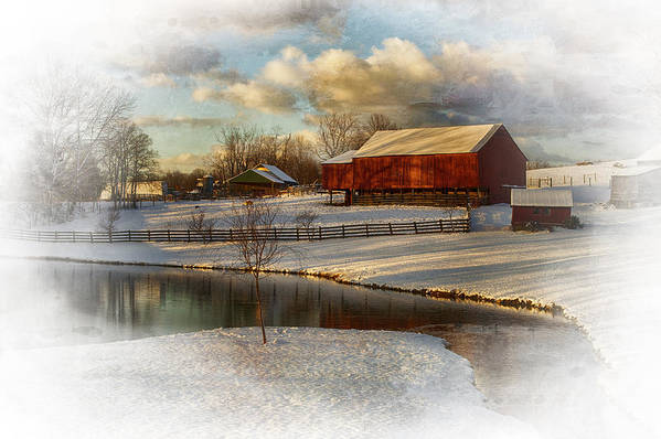 Kathy Jennings Print featuring the photograph The Color Of Winter by Kathy Jennings