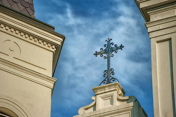 Steeple Print featuring the photograph The Cross by Brenda Bryant