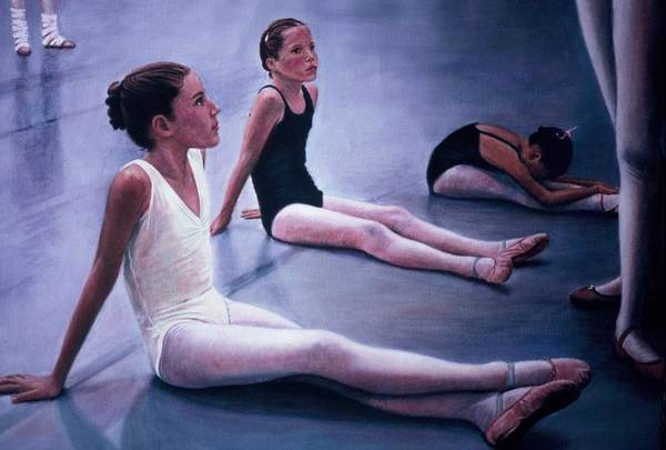 Aliveballet Art Print featuring the painting The Dance Class by James Welch