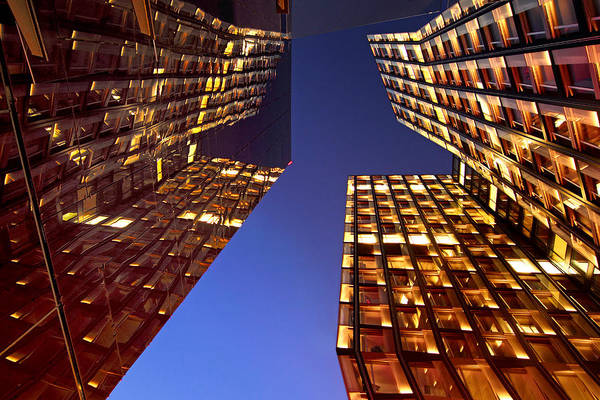 Architectur Art Print featuring the photograph The Dancing Towers by Marc Huebner