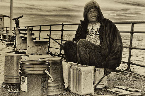 Street Photography Art Print featuring the photograph The Drummer by Brian Hayashi