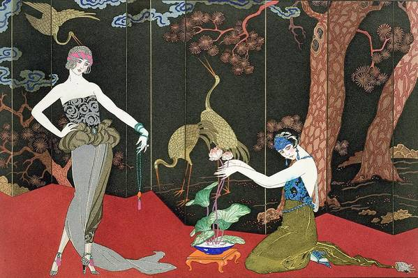 Print Art Print featuring the painting The Fashion For Lacquer by Georges Barbier
