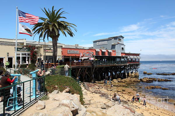 The Fish Hopper Restaurant And Monterey Bay On Monterey Cannery Row California 5d25046 Art Print