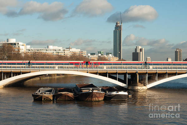 London Art Print featuring the photograph The Good Barge Providence by Carol Weitz