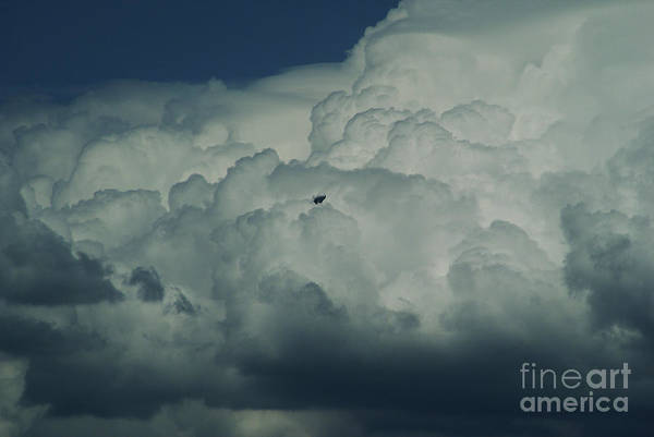 Cloud Art Print featuring the photograph The Great Escape by Linda Shafer