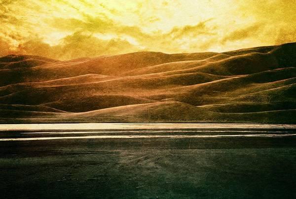 Brett Art Print featuring the digital art The Great Sand Dunes by Brett Pfister