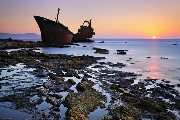 Shipwreck Art Print featuring the photograph The Last Stand by Mary Kay