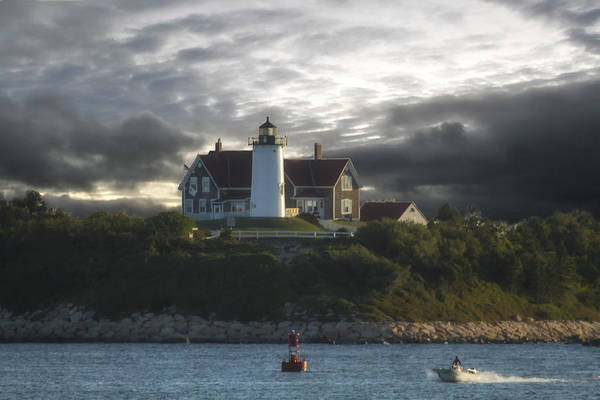 Nobska Point Lighthouse Art Print featuring the photograph The Light At Nobska Point by Constantine Gregory