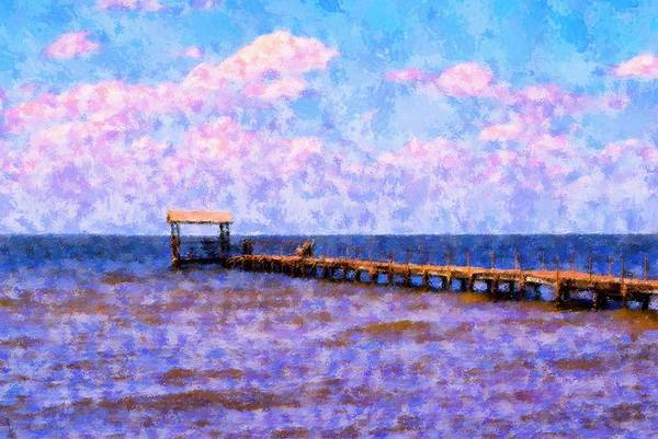 Landscape Art Print featuring the mixed media The Long Walk by Florene Welebny