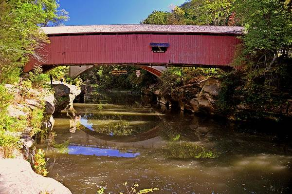 Covered Bridge Print featuring the photograph The Narrows Covered Bridge 1 by Marty Koch