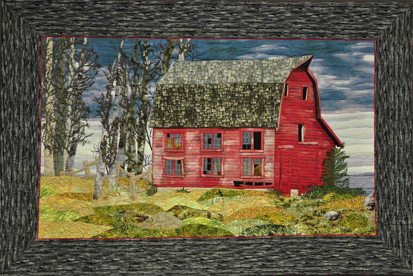 Landscape Art Print featuring the painting The Old Barn by Jo Baner