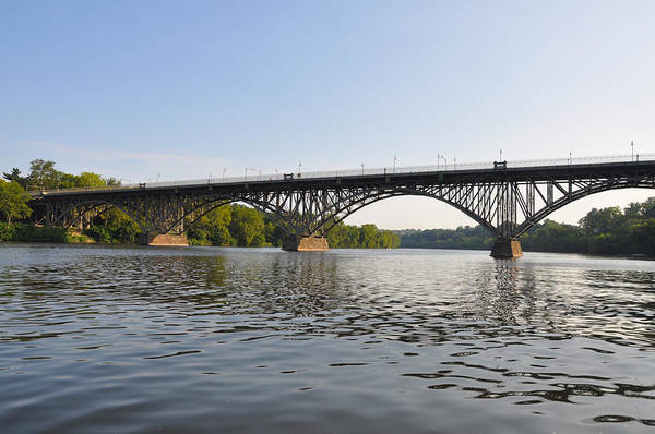 Schuylkill Art Print featuring the photograph The Schuylkill River And Strawbery Mansion Bridge by Bill Cannon
