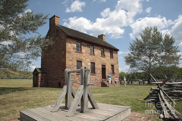 Battle Of Bull Run Art Print featuring the photograph The Stone House At Manassas by William Kuta