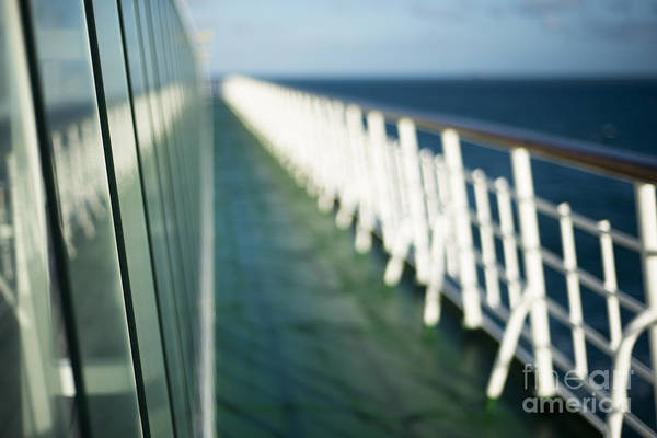 Abstract Art Print featuring the photograph The Sun Deck by Anne Gilbert