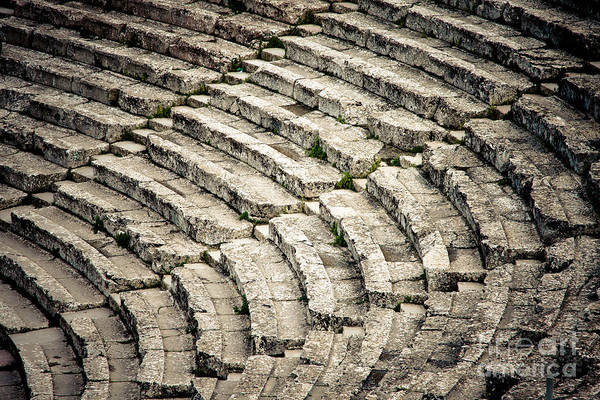 Ancient Print featuring the photograph Theatre At Epidaurus by Gabriela Insuratelu