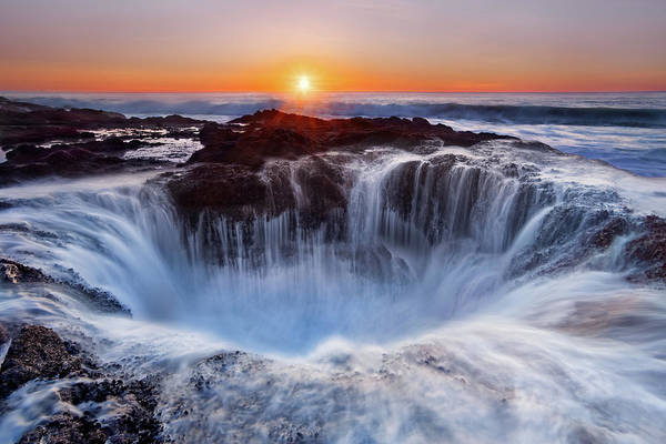 Coast Art Print featuring the photograph Thors' Well by Miles Morgan