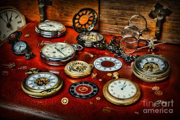 Paul Ward Art Print featuring the photograph Time - Pocket Watches by Paul Ward