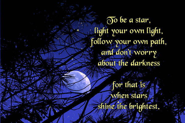 Quotation Print featuring the photograph To Be A Star by Mike Flynn