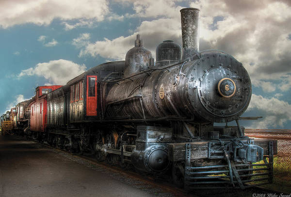 Savad Art Print featuring the photograph Train - Engine - 6 Nw Class G Steam Locomotive 4-6-0 by Mike Savad
