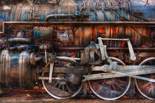 Savad Art Print featuring the photograph Train - With Age Comes Beauty by Mike Savad