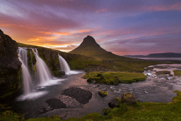 Iceland Art Print featuring the photograph Triple Falls by Joseph Rossbach