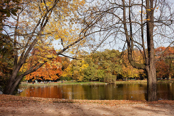 Pond Art Print featuring the photograph Ujazdowski Park In Warsaw by Artur Bogacki