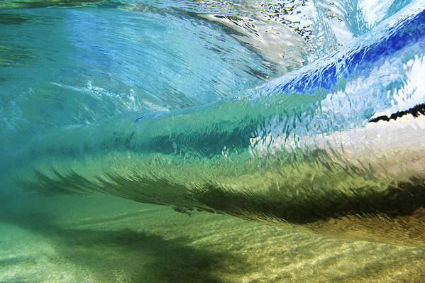 Amaze Print featuring the photograph Underwater Wave Curl by Vince Cavataio - Printscapes