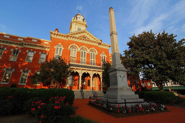 Monroe Art Print featuring the photograph Union County Court House by Joseph C Hinson Photography