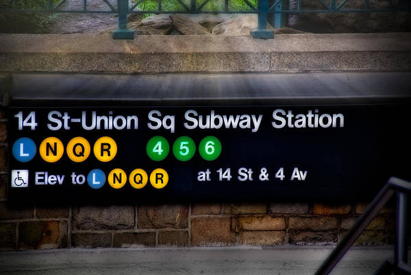 Union Square Art Print featuring the photograph Union Square Subway Station by Susan Candelario