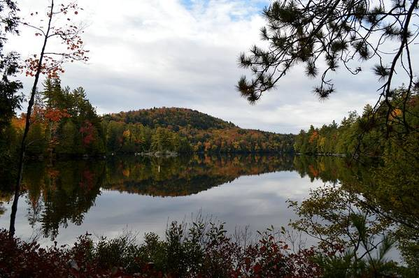 Canoe Carry Art Print featuring the photograph Upper Saranac Bay In Fall by Thomas Phillips