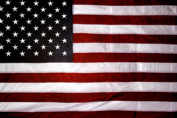 Flag Art Print featuring the photograph USA by Les Cunliffe