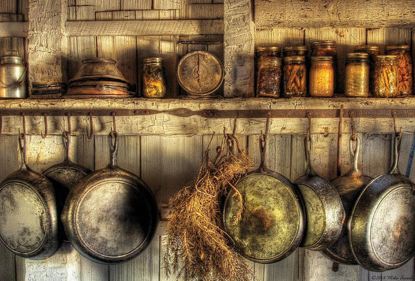 Kitchen Art Print featuring the photograph Utensils - Old Country Kitchen by Mike Savad