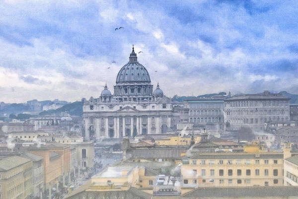 Vatican Art Print featuring the photograph Vatican On A Winter Afternoon by Mark E Tisdale