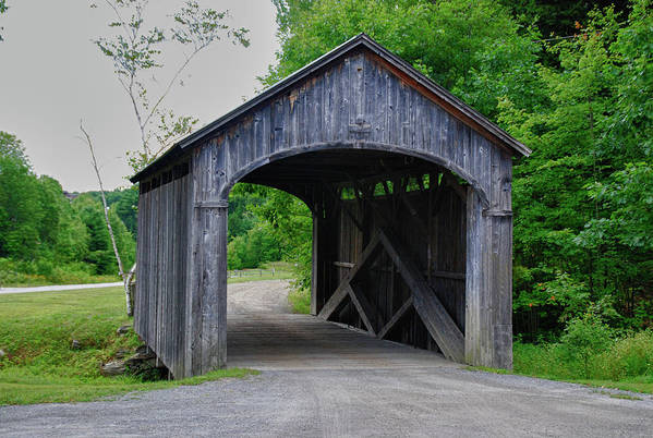 Covered Bridge Art Print featuring the photograph Vermont Country Store 5656 by Guy Whiteley
