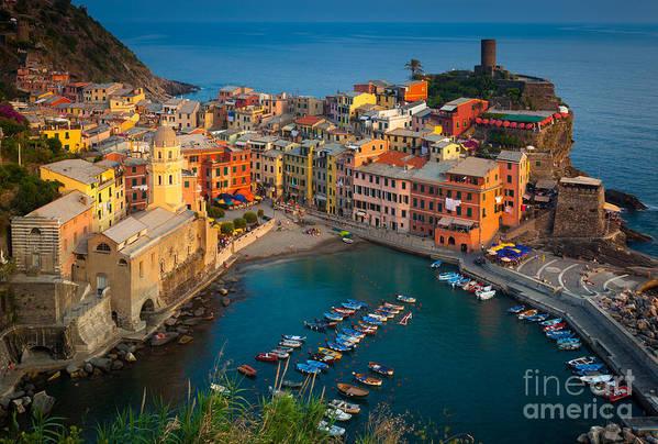 Cinque Terre Art Print featuring the photograph Vernazza Pomeriggio by Inge Johnsson